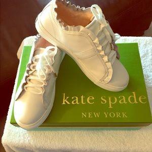 Kate Spade Lynn Leather Sneaker White Size 6